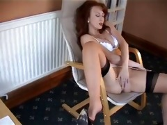 redheaded d like to fuck in retro underware