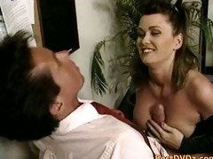 peter north fucks busty babe on desk