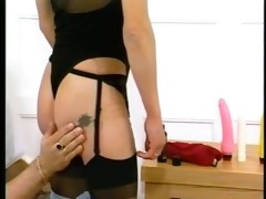 german gal finishes herself off after some