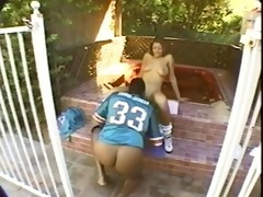 tye the pool cutie receives drilled right into an