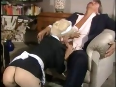 maid woman gives worthy blowjob and fuck hard