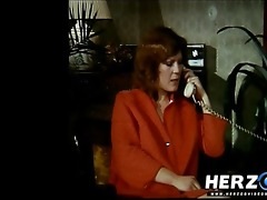 hawt retro redhead getting team-fucked in a