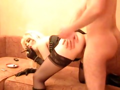 classic sexy cigar smokin cougar banging in boots