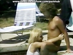 classic wazoo fuck in the outdoor pool
