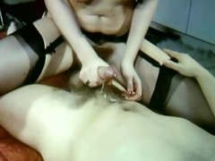 hawt vintage clip of sexy sex stockings and fur