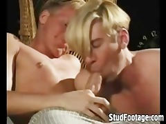 blonde boys in gay irrumation job action
