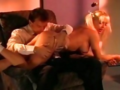 classic blond takes a facial