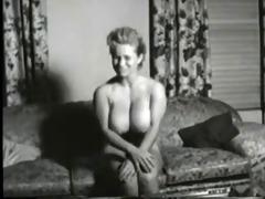 vintage porn clip of hot large boob blonde