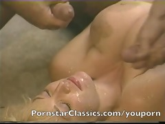 superlatively nice classic pornstar cum facial