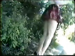 public nudity vintage flashing at the park
