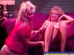 girlfriends go lesbo in vintage scene