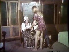 carol connors in vintage shower lesbian act