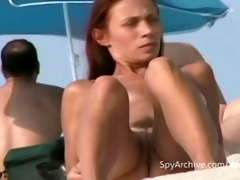spying on hawt undressed latin babe at the beach