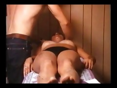 vintage busty woman in panty massage (clip loop)
