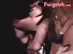 hot vintage raven haired beauty sucks shlong with