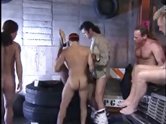 vintage swarthy anal group sex