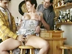 big titted older screwed in a bar