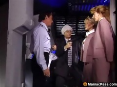 hawt flight attendants three-some