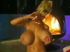 a lady takes a fleshly bath.
