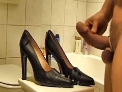 jizz flow on gf high heels classic part 63043