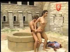 andrea molnar drilled in medieval castle