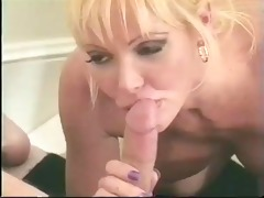 classic breasty blond cougar gangbanged on stairs