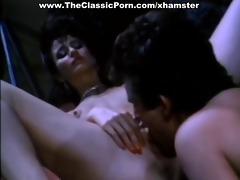 retro porn with hirsute cum-hole fuck