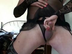 vintage ladyboy crossdresser in black panty 8