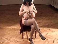 one classic large glamorous woman-mistress