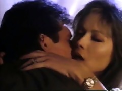 tanya roberts straddling a chap during the time