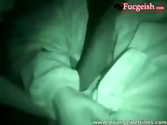 night cam catches great missionary in pov shot