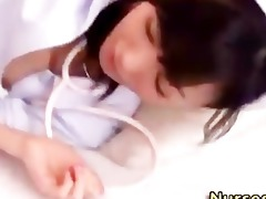japanese asian nurse oral stimulation job and