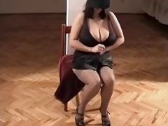 one classic big nice-looking woman