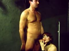 vintage female-dominator fucking her client