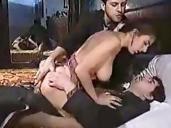 sexy chik in retro three-some episode scene